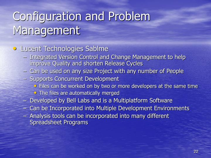 Configuration and Problem Management