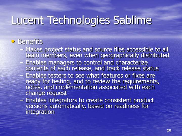 Lucent Technologies Sablime