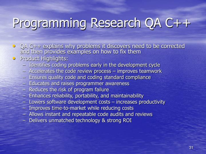 Programming Research QA C++