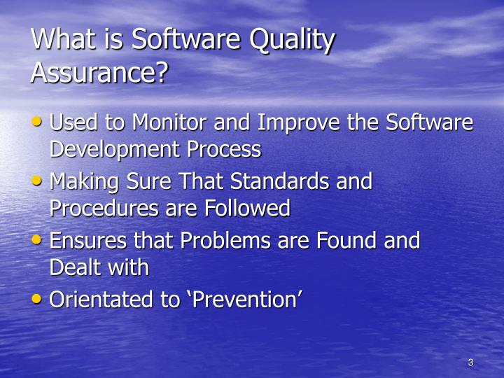 What is Software Quality Assurance?