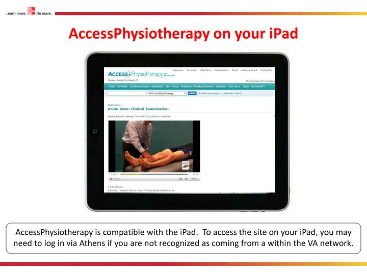 AccessPhysiotherapy on your