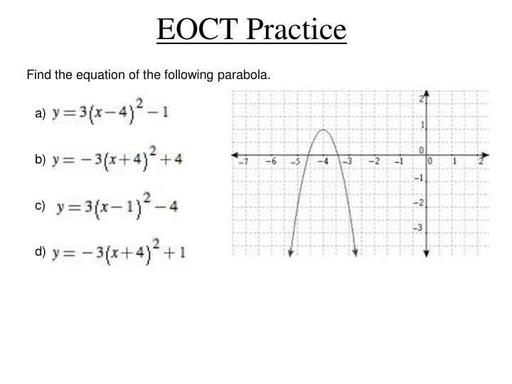 Find the equation of the following parabola.
