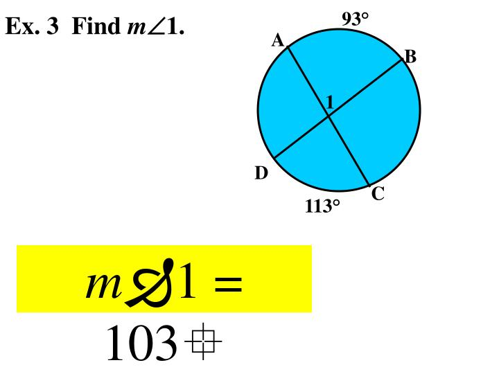 Ex. 3  Find