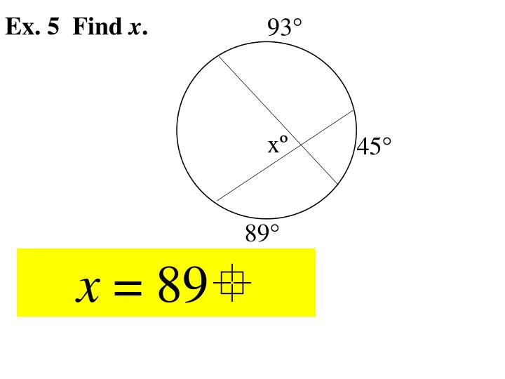 Ex. 5  Find