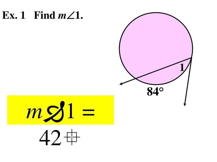 Ex. 1   Find