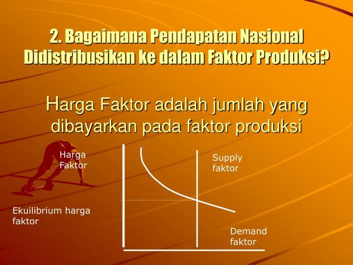 2. Bagaimana Pendapatan Nasional Didistribusikan ke dalam Faktor Produksi?