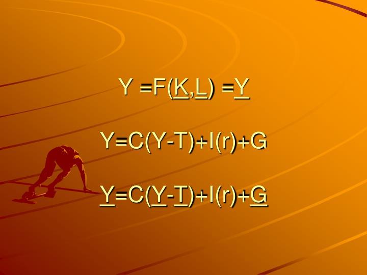 Y =F(