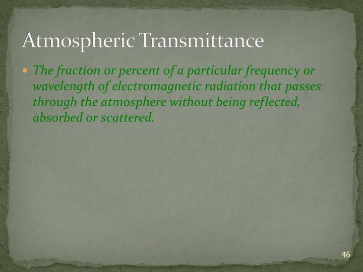 Atmospheric Transmittance