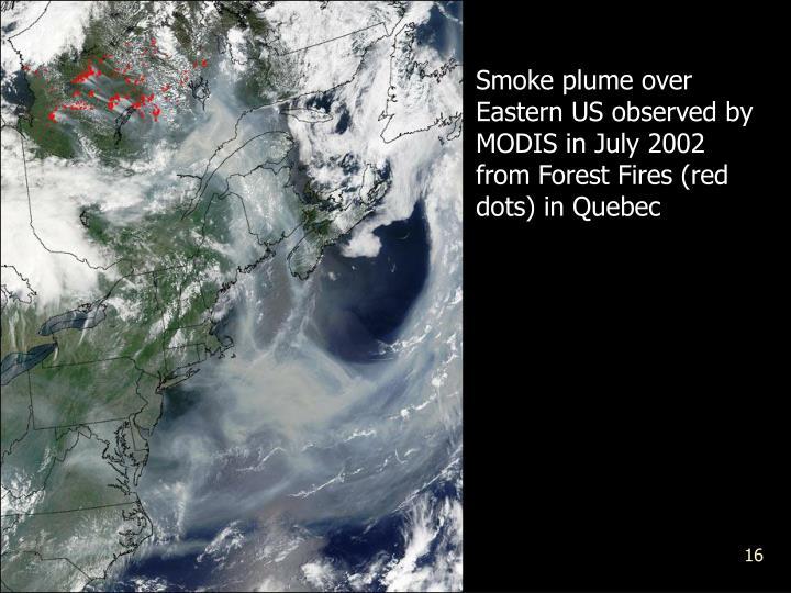 Smoke plume over