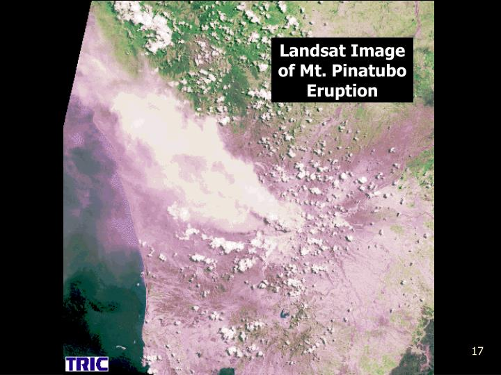 Landsat Image of Mt. Pinatubo Eruption