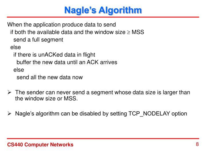Nagle's Algorithm