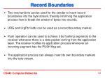 record boundaries