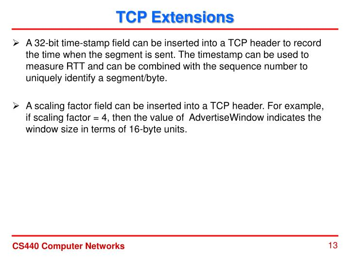 TCP Extensions