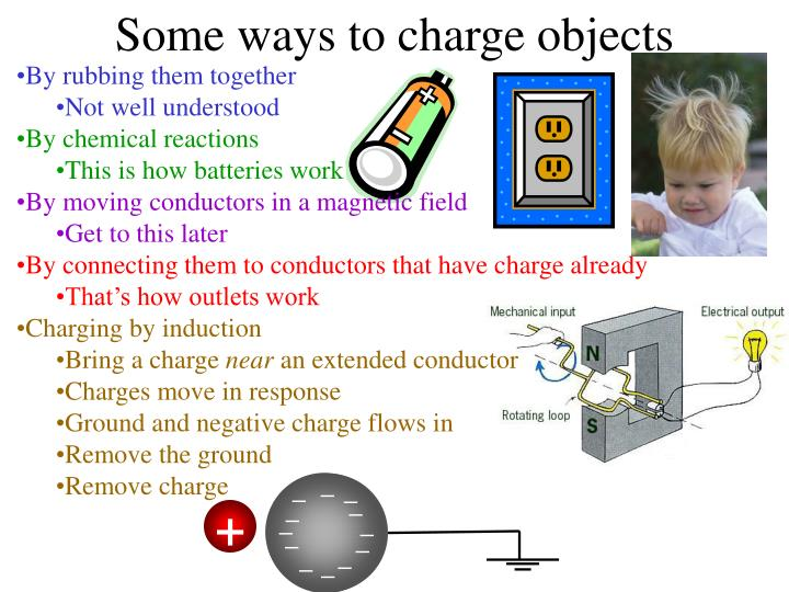 Some ways to charge objects