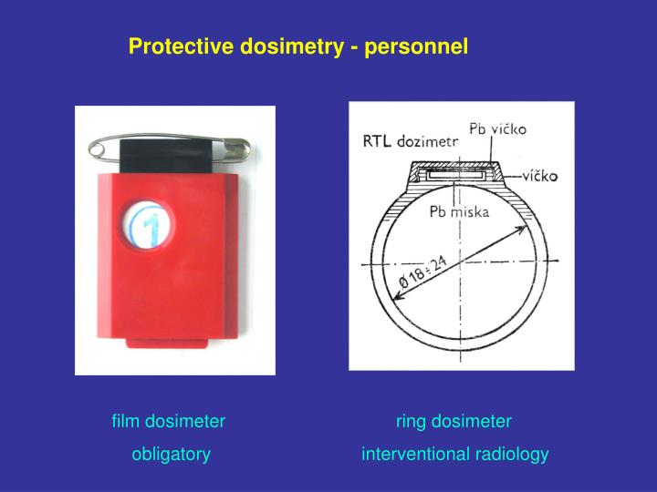 Protective dosimetry - personnel