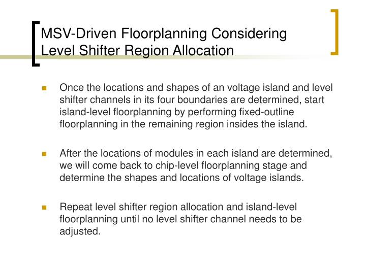 MSV-Driven Floorplanning Considering Level Shifter Region Allocation
