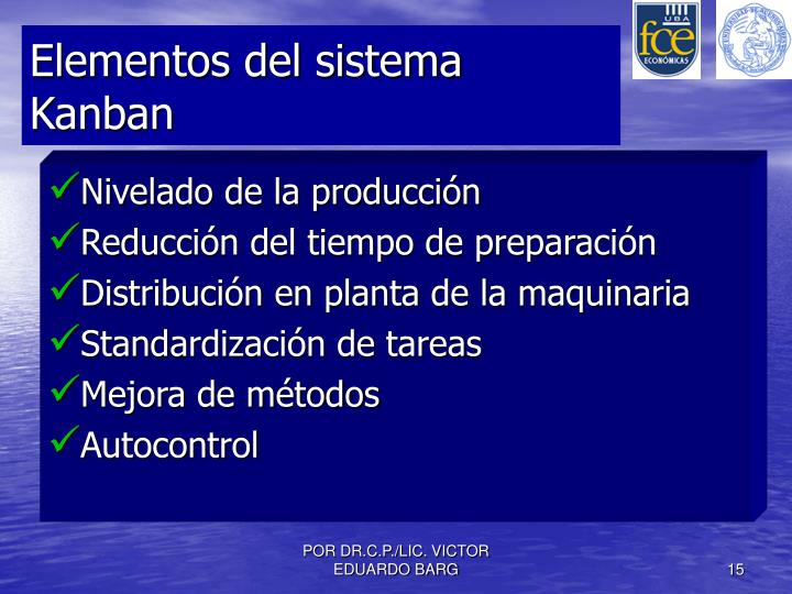 Elementos del sistema Kanban