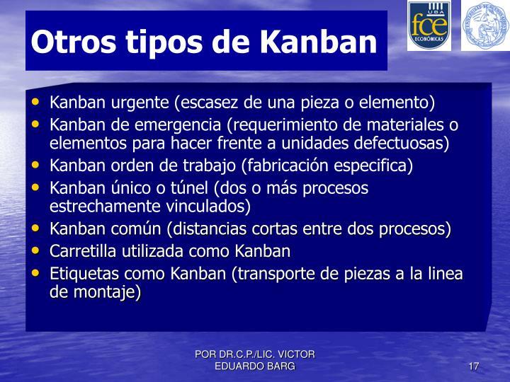 Otros tipos de Kanban