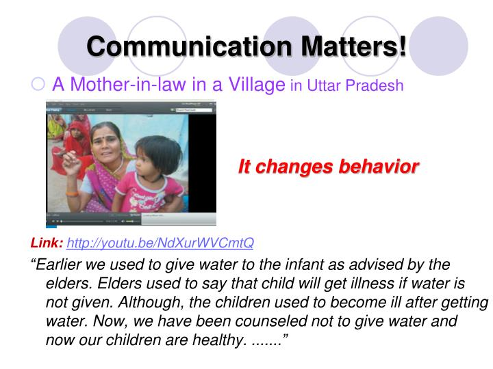 Communication Matters!