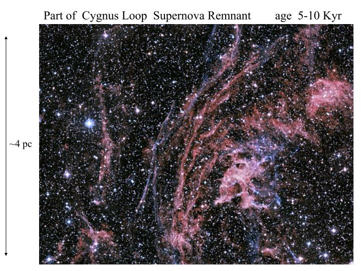 Part of  Cygnus Loop  Supernova Remnant        age  5-10 Kyr