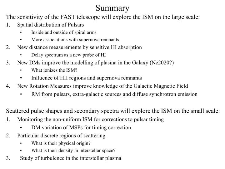 The sensitivity of the FAST telescope will explore the ISM on the large scale: