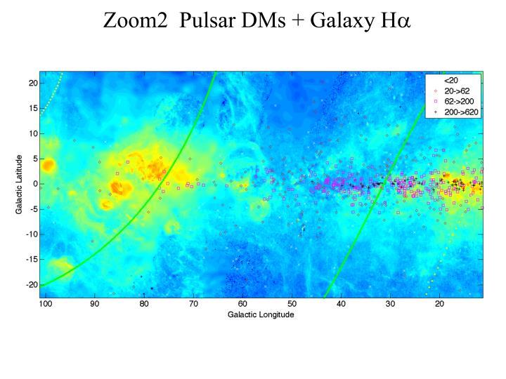 Zoom2  Pulsar DMs + Galaxy H