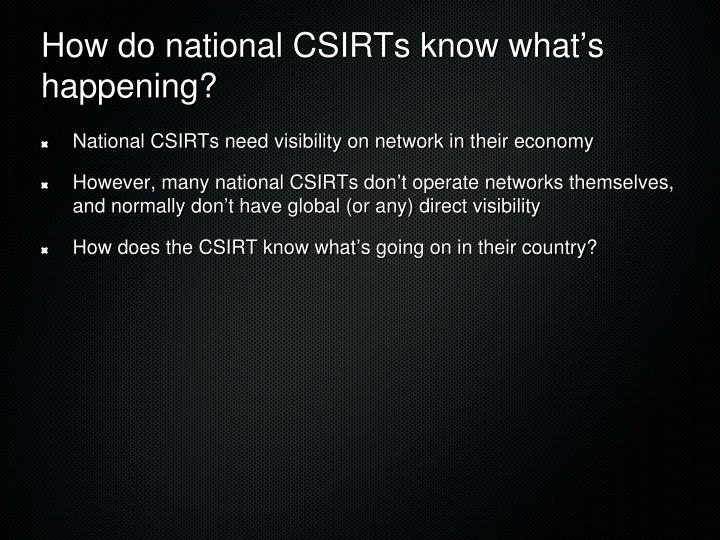 How do national CSIRTs know what
