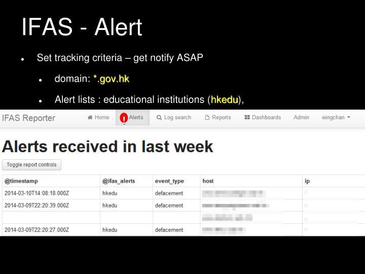 IFAS - Alert