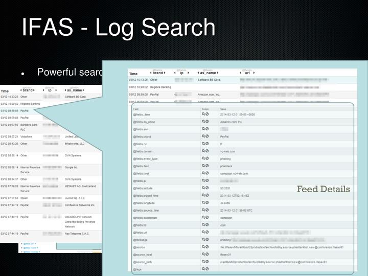 IFAS - Log Search