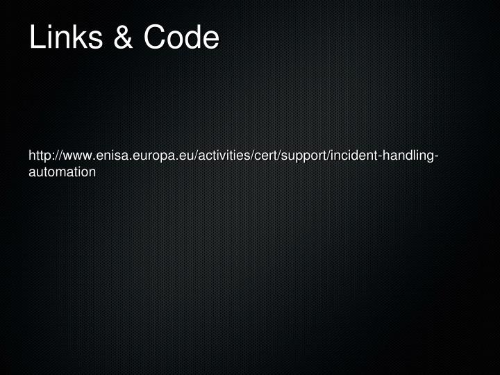 Links & Code