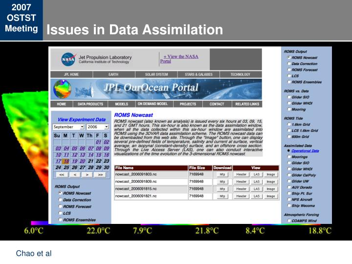 Issues in Data Assimilation