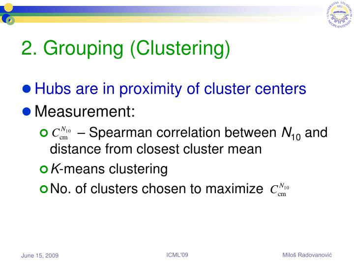 2. Grouping (Clustering)