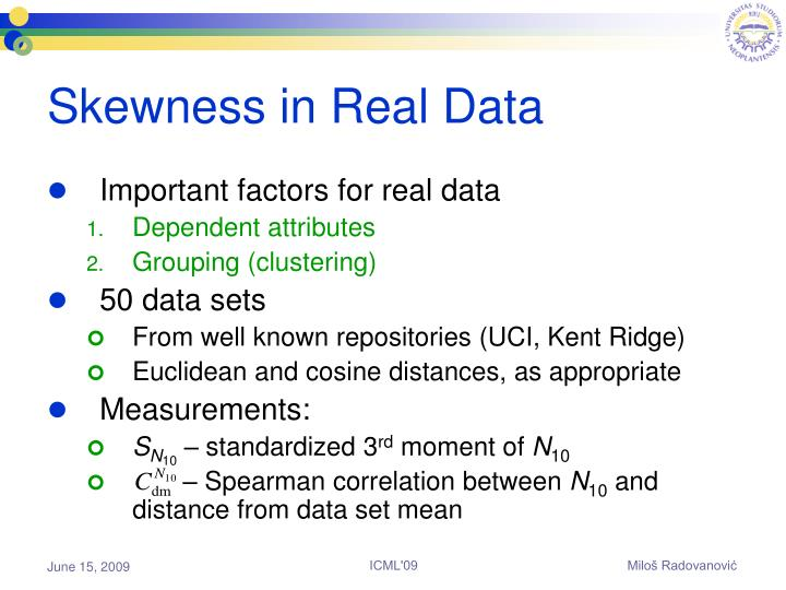 Skewness in Real Data