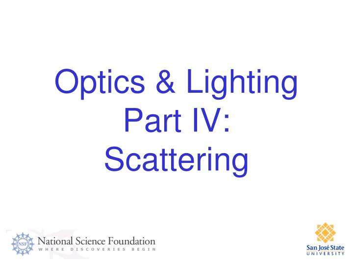 Optics & Lighting