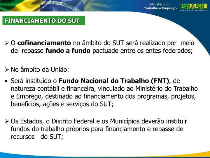 FINANCIAMENTO DO SUT