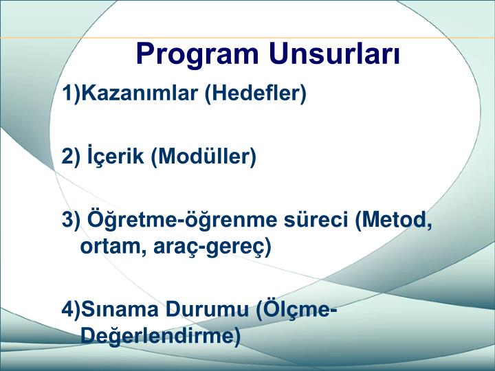Program Unsurları