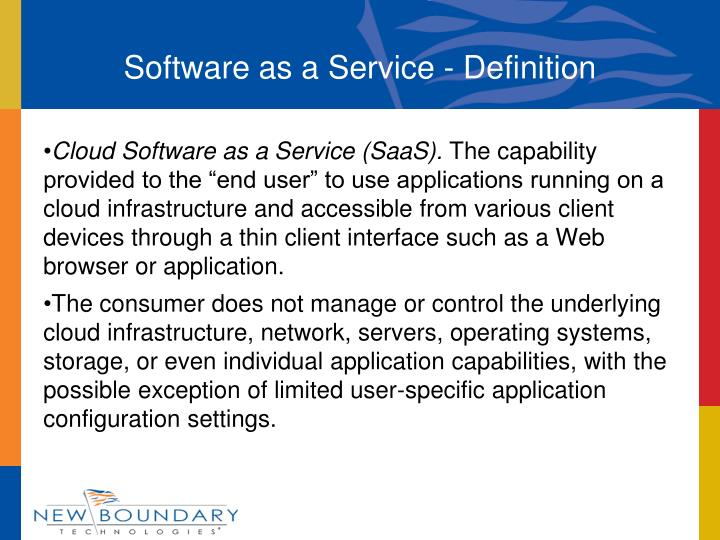 Software as a Service - Definition