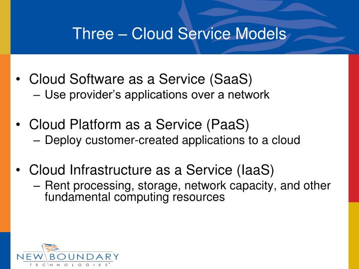 Three – Cloud Service Models