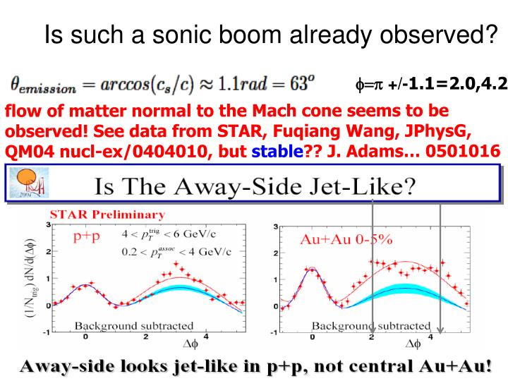 Is such a sonic boom already observed?