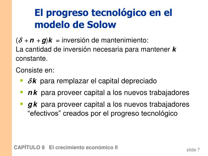 El progreso tecnológico en el modelo de Solow