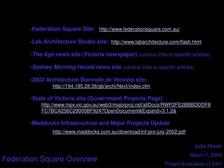 -Federation Square Site: