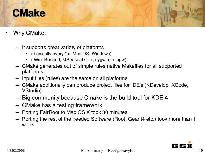 Why CMake: