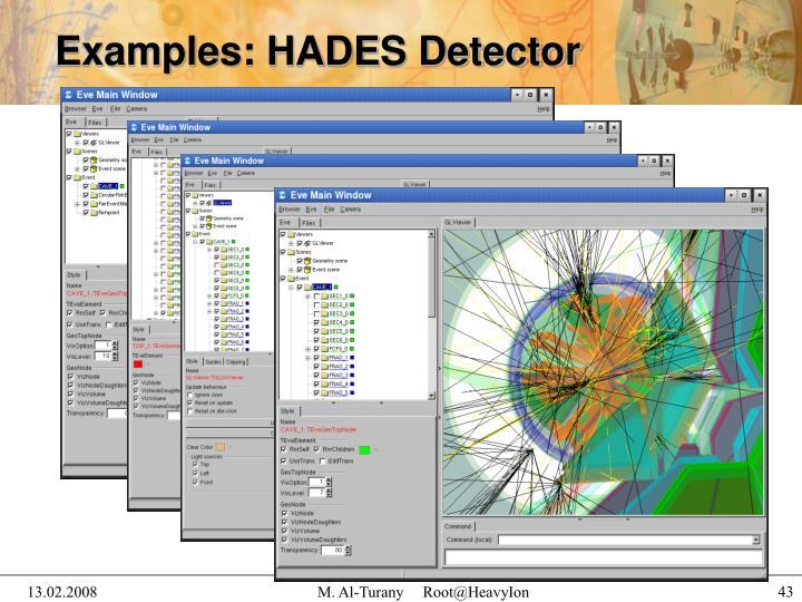 Examples: HADES Detector