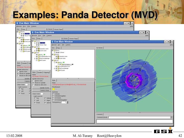 Examples: Panda Detector (MVD)
