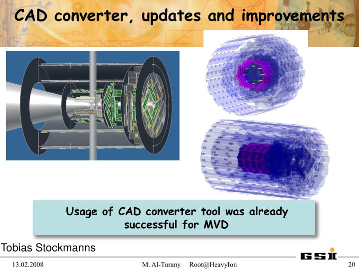CAD converter, updates and improvements