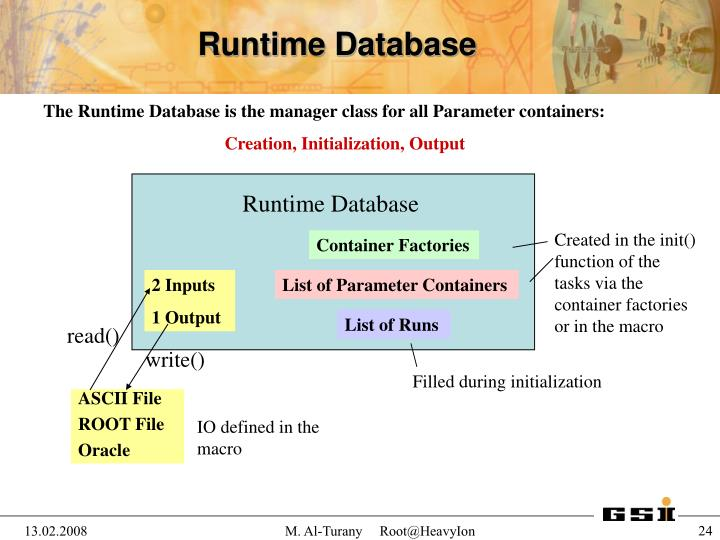 Runtime Database