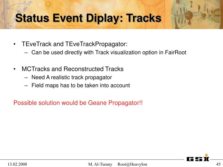 TEveTrack and TEveTrackPropagator: