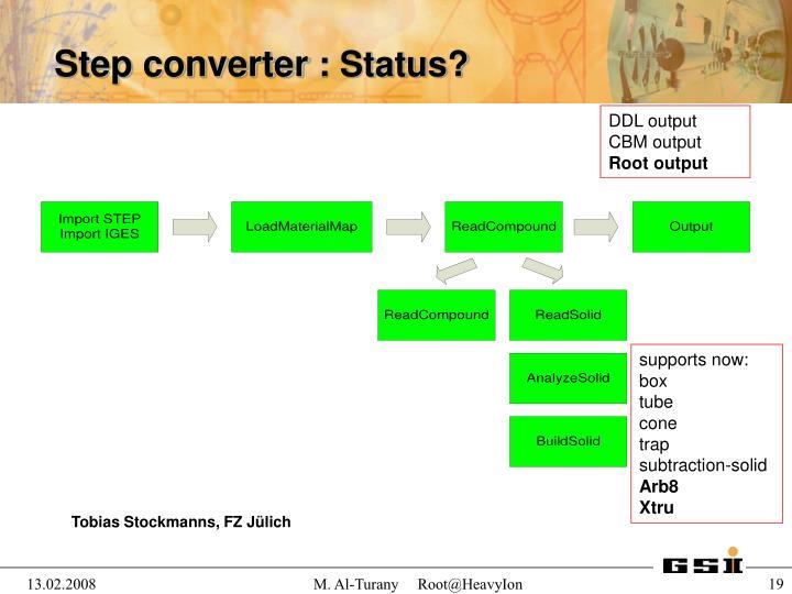Step converter