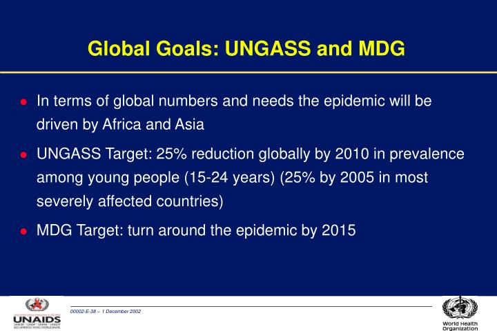 Global Goals: UNGASS and MDG