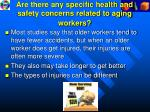 are there any specific health and safety concerns related to aging workers